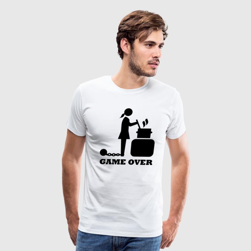 game over cooking woman bachelorette bachelor   T-Shirts - Men's Premium T-Shirt