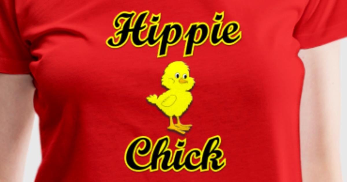 Hippie chick t shirt spreadshirt for Hippie t shirts australia
