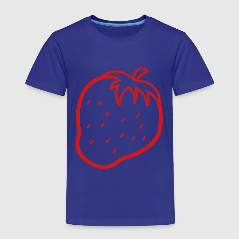 Single color outline  STRAWBERRY fruit cool Baby & Toddler Shirts - Toddler Premium T-Shirt