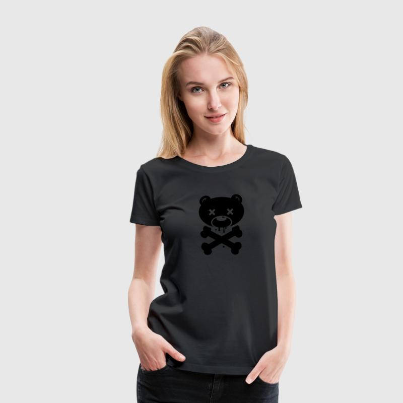 Scary Bear monster ghost Halloween skull zombie Women's T-Shirts - Women's Premium T-Shirt