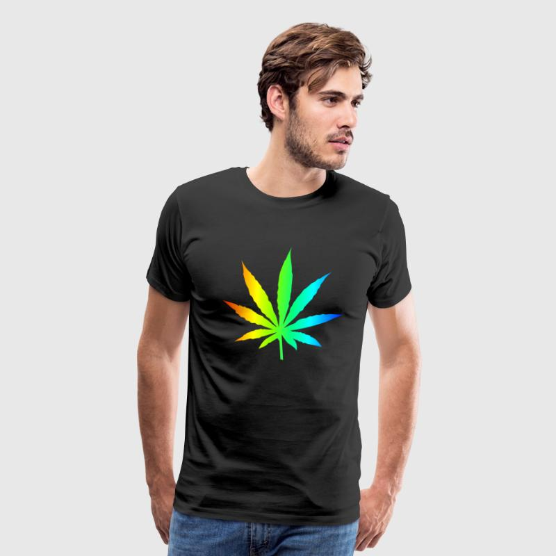 Rainbow Marijuana T-Shirt - Men's Premium T-Shirt
