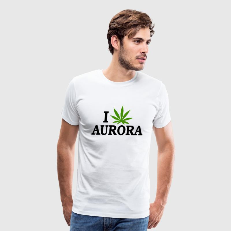 I Love Marijuana Aurora Colorado T-Shirt - Men's Premium T-Shirt