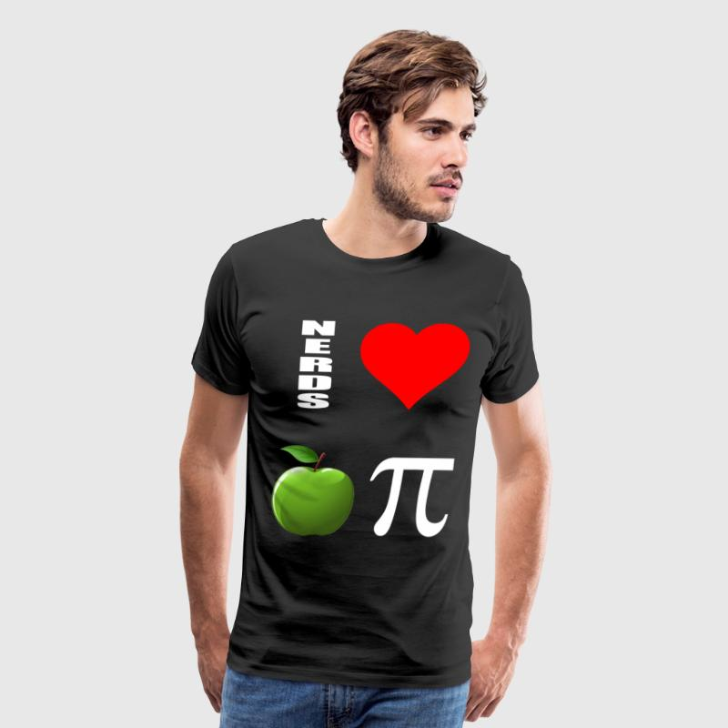 nerds love apple pi T-Shirts - Men's Premium T-Shirt