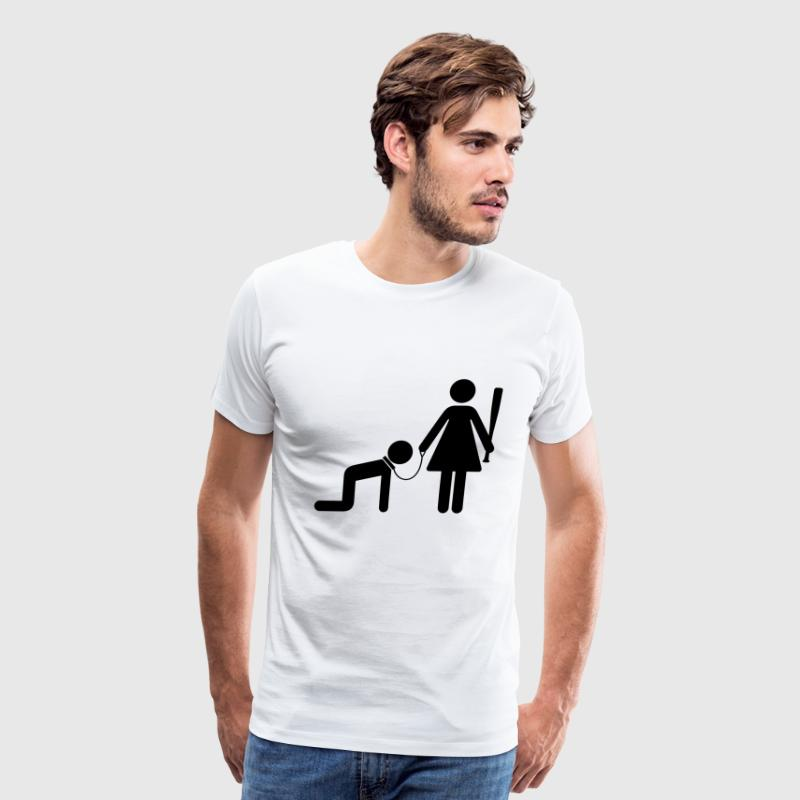 Man Woman Slave (1c)++2012 T-Shirts - Men's Premium T-Shirt