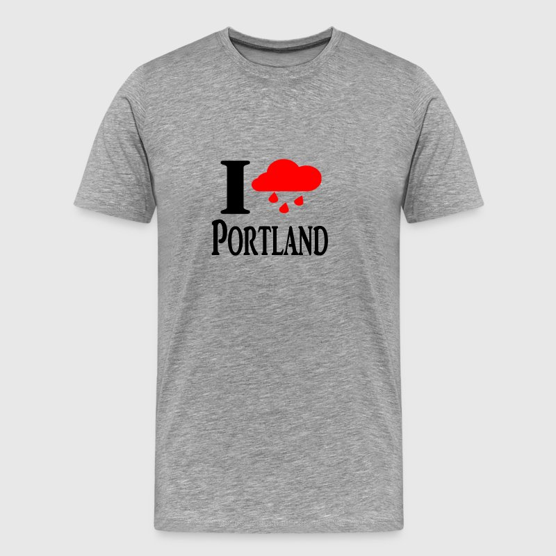 I heart Portland (Rain Cloud) - Men's Premium T-Shirt