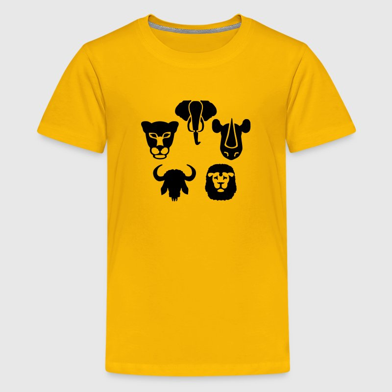 Africa animals big five Kids' Shirts - Kids' Premium T-Shirt