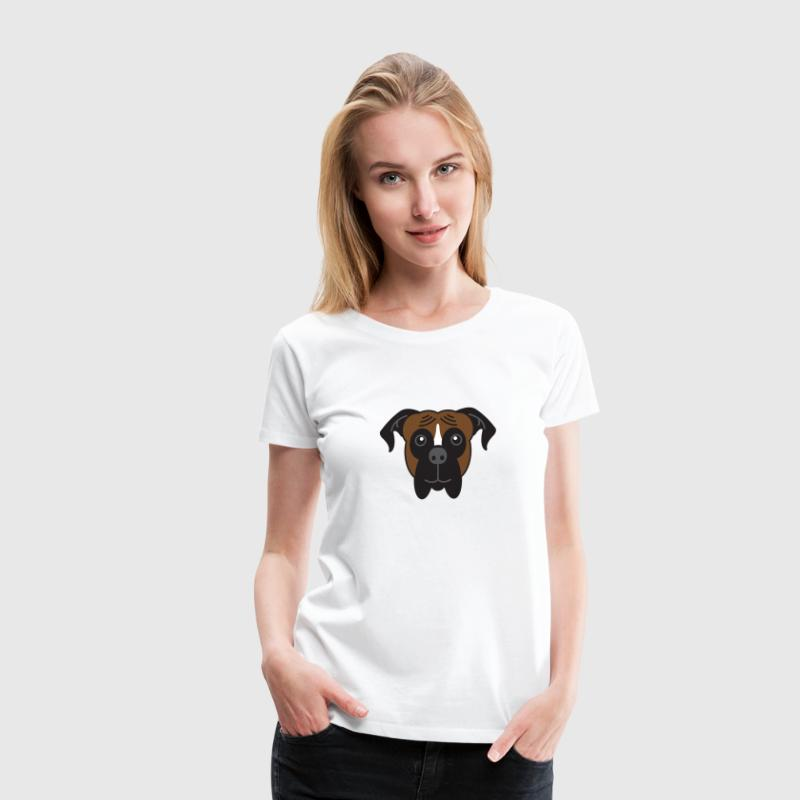 Cute Boxer Dog Face - Women's Premium T-Shirt