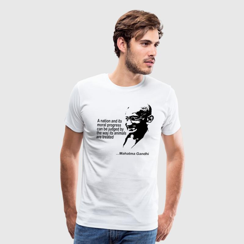 Mahatma Gandhi Animal Rights T-Shirt - Men's Premium T-Shirt