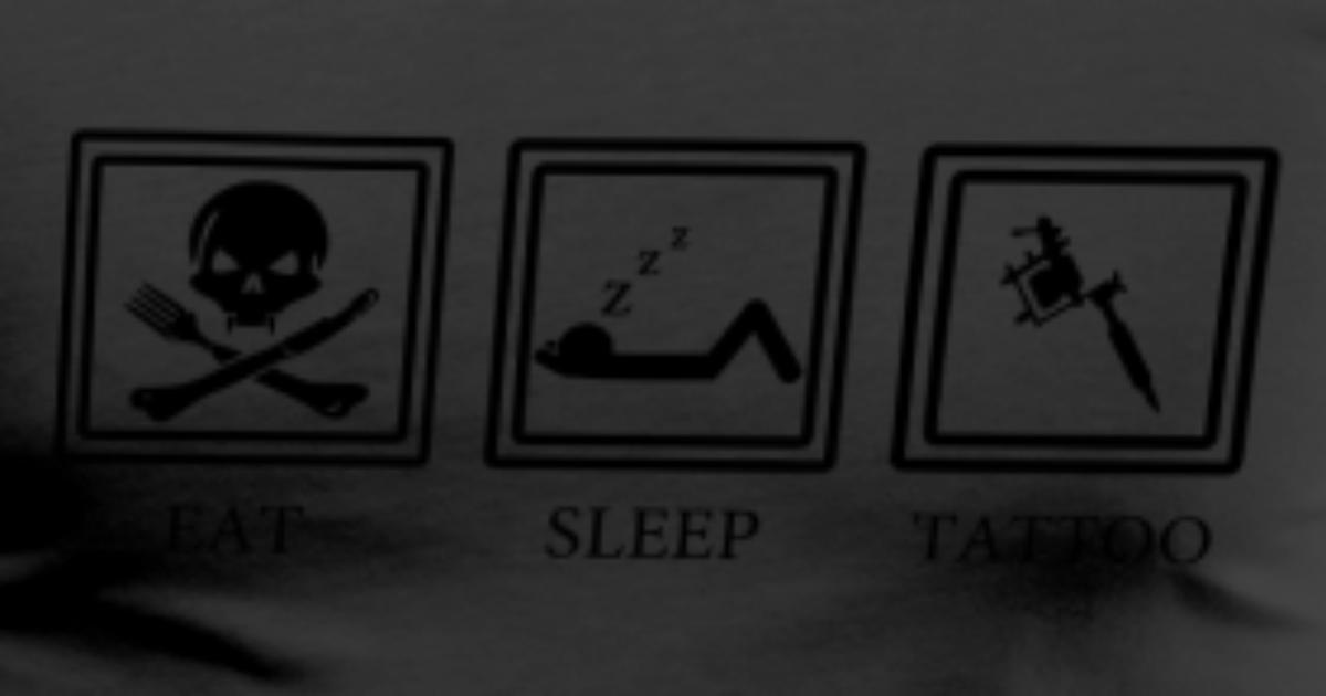 eat sleep race tattoo - photo #9
