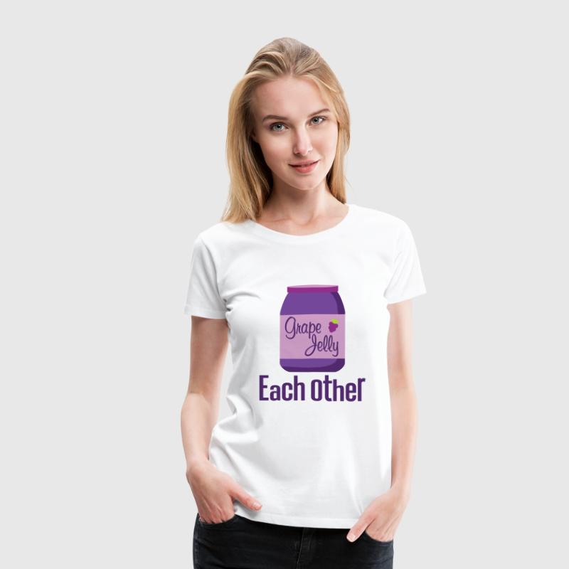 Made For Each Other Couples (Jelly) T-shirt | Matc - Women's Premium T-Shirt