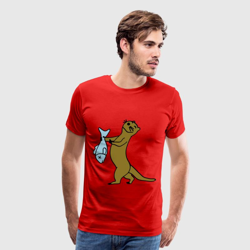Dancing otter - Men's Premium T-Shirt