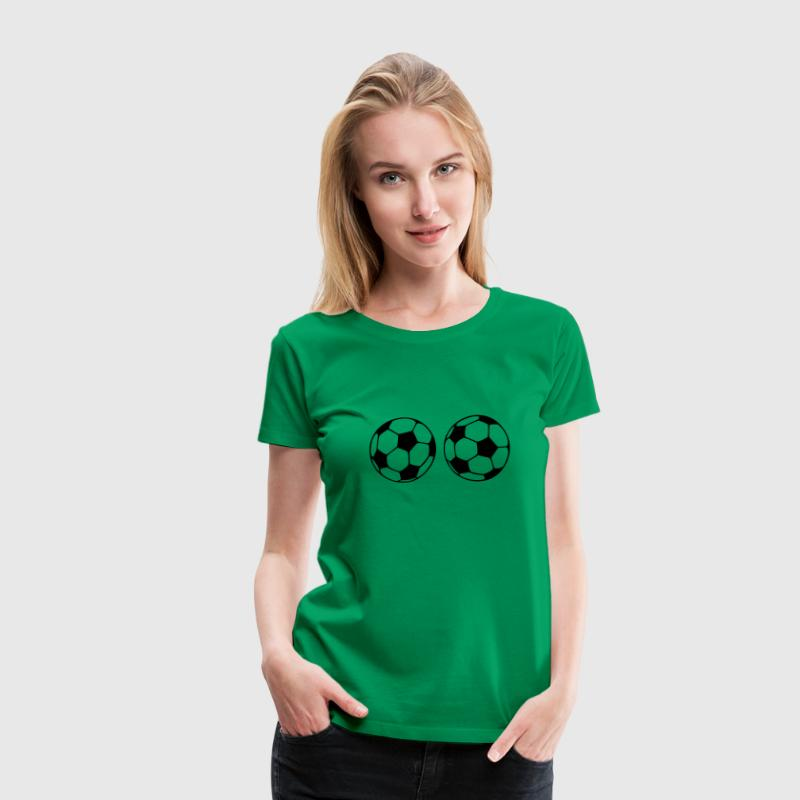soccer ball boobs Women's T-Shirts - Women's Premium T-Shirt
