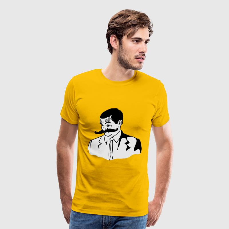 Mr. Bean Moustache - If you know what I mean meme - Men's Premium T-Shirt
