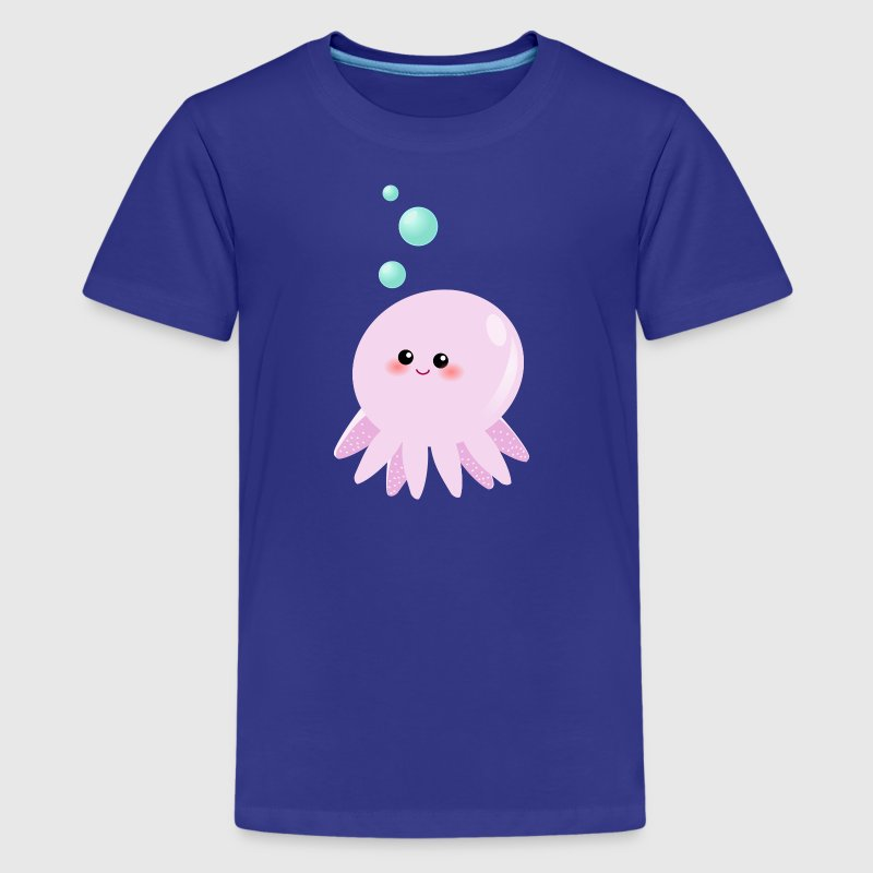 Cute Pink Octopus cartoon Kids' Shirts - Kids' Premium T-Shirt