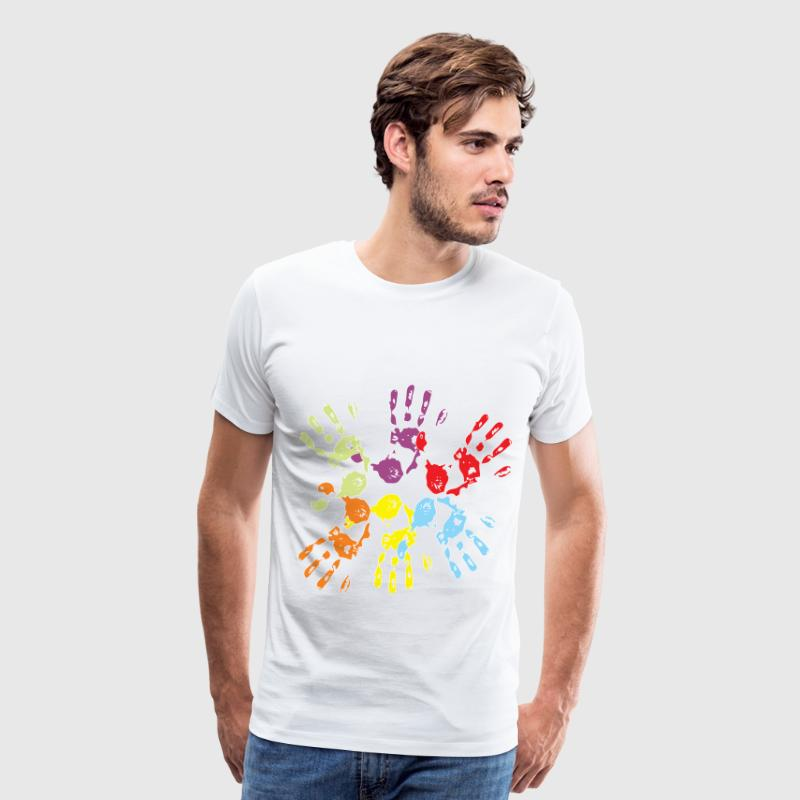 paint hands - Men's Premium T-Shirt