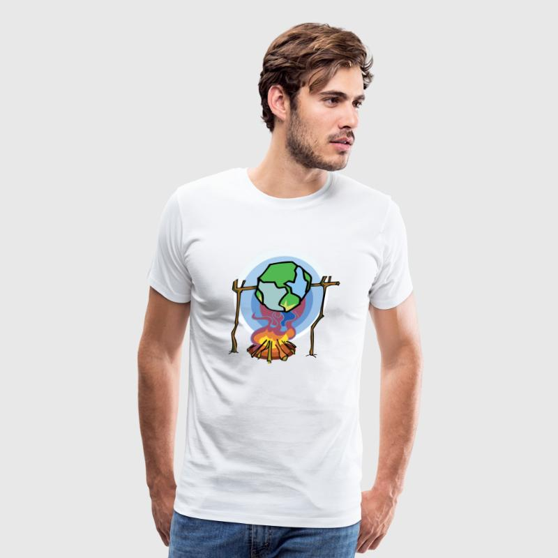 Earth Day Global Warming T-Shirt - Men's Premium T-Shirt