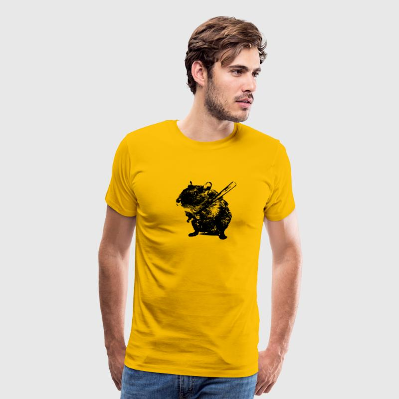 Angry Hamster T-Shirts - Men's Premium T-Shirt