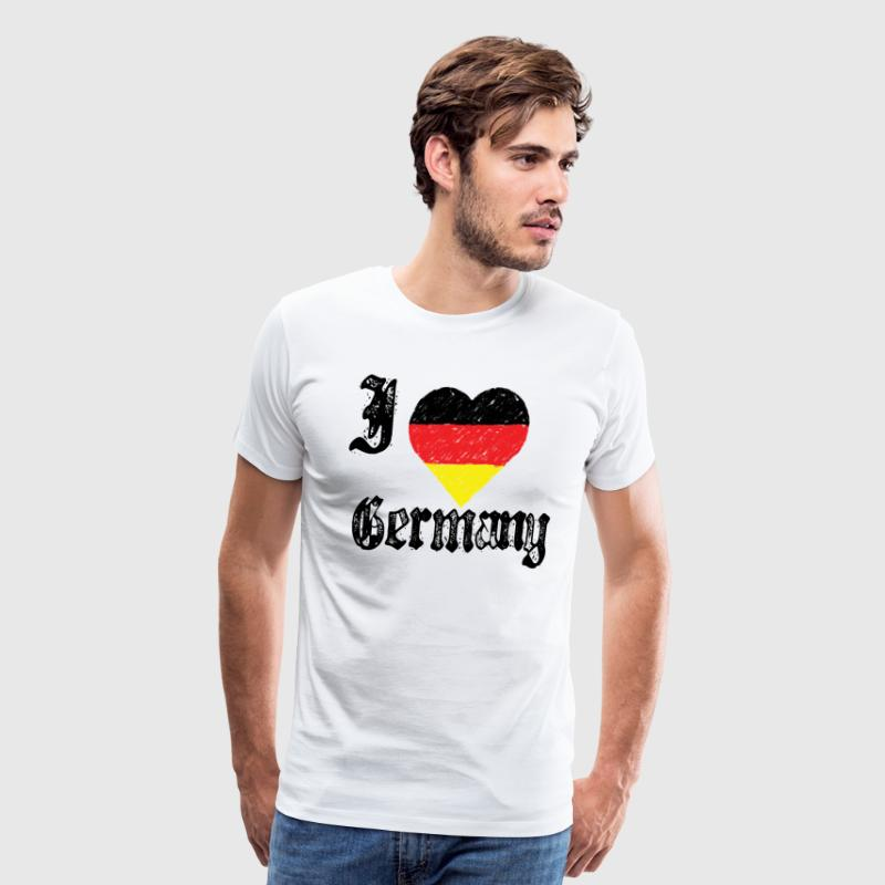 I Love Germany T-Shirt - Men's Premium T-Shirt