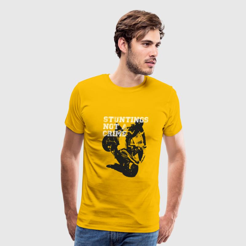 Motorcycle Stunting Crime T-Shirts - Men's Premium T-Shirt