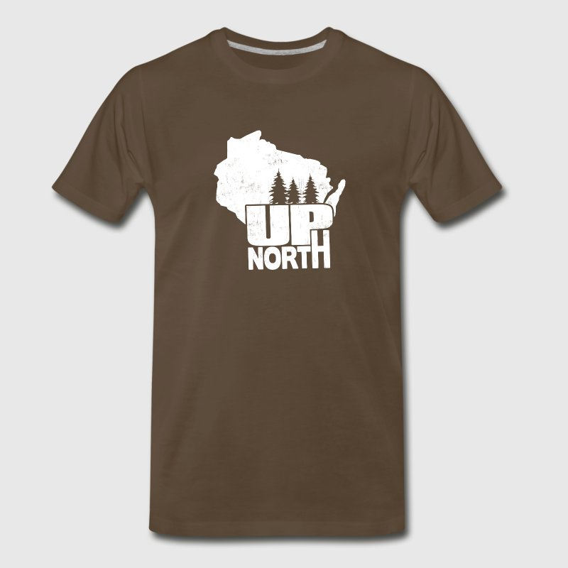 WISCONSIN UP NORTH T-Shirts - Men's Premium T-Shirt