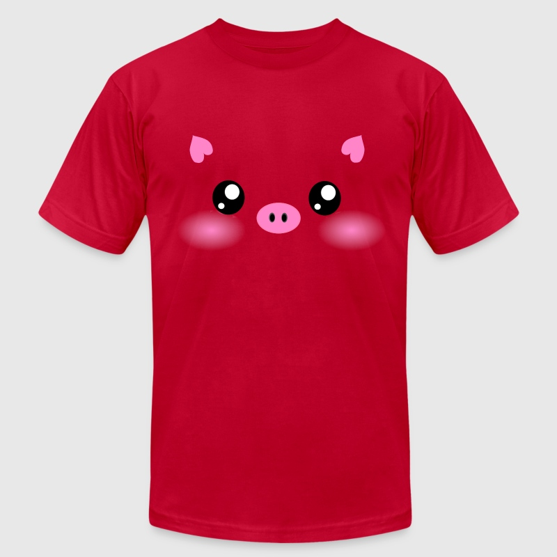 Cute Kawaii Pig face T-Shirts - Men's Fine Jersey T-Shirt