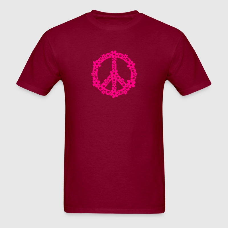 PEACE SYMBOL - peace sign, c, symbol of freedom, flower power, hippie, 68er movement, Woodstock T-Shirts - Men's T-Shirt