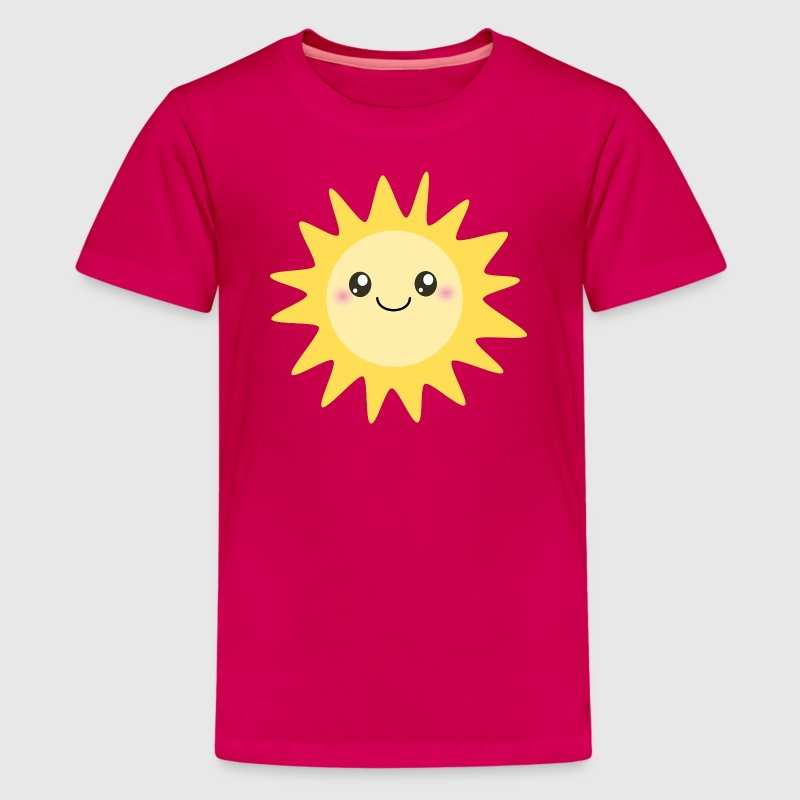 Cute happy sun - Kids' Premium T-Shirt