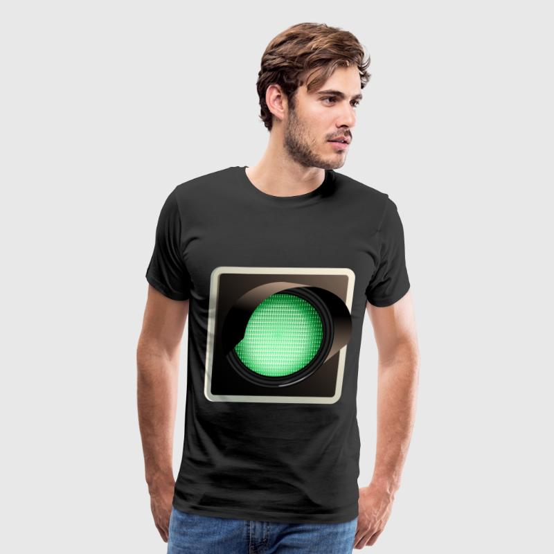 green traffic light - Men's Premium T-Shirt