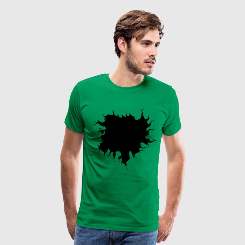 Shirt Rip Hole T-Shirts - Men's Premium T-Shirt