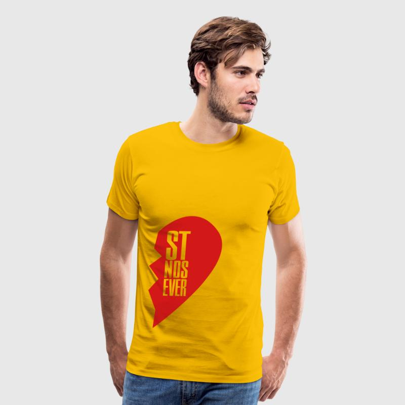 best friends forever right heart side T-Shirts - Men's Premium T-Shirt