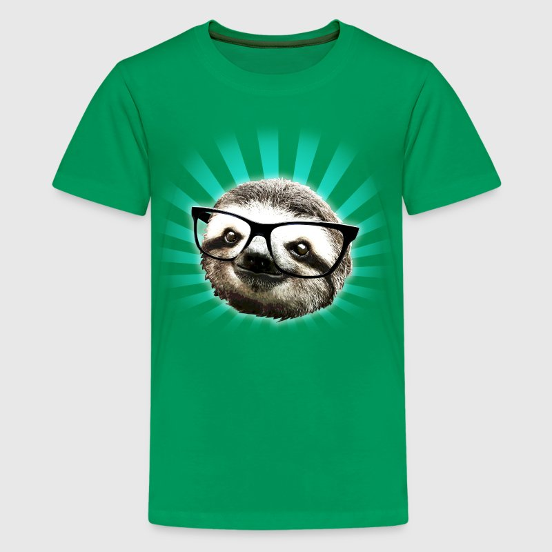 Cute! Hipster Sloth - Kids' Premium T-Shirt