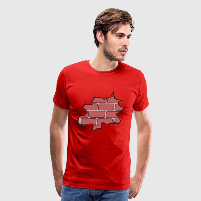 Broken Brick Wall T-Shirts - Men's Premium T-Shirt