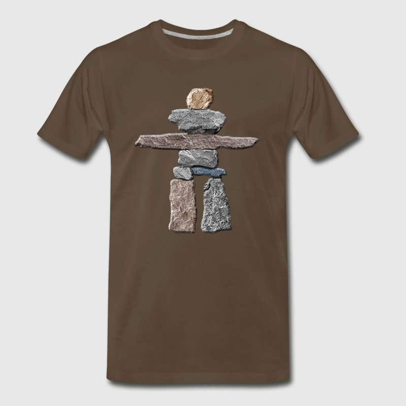 Native American Inukshuk  T-Shirts - Men's Premium T-Shirt