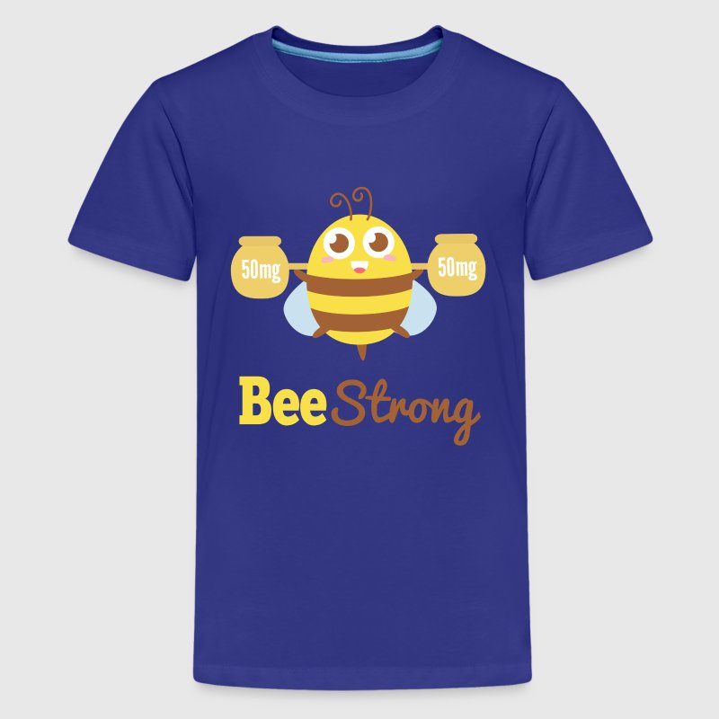 Motivational cartoon to bee strong Kids' Shirts - Kids' Premium T-Shirt