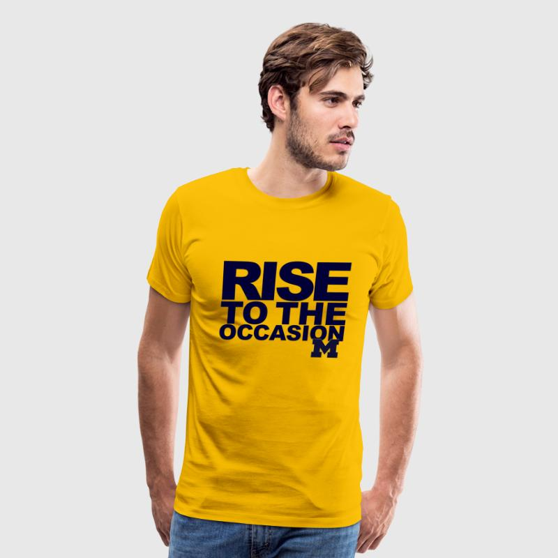 Michigan Rise to the Occasion Shirt T-Shirts - Men's Premium T-Shirt