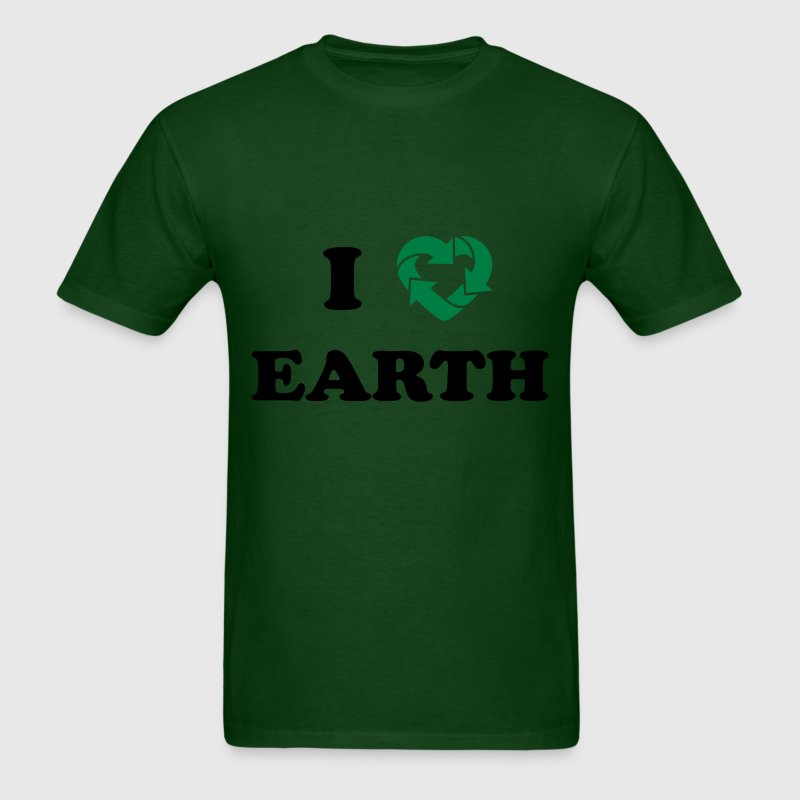 KCCO - I Heart-Love Recycle Earth Day T-Shirts - Men's T-Shirt