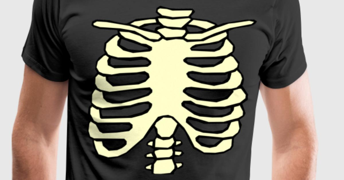 Halloween Chest Ribs Skeleton rib cage T-Shirt | Spreadshirt