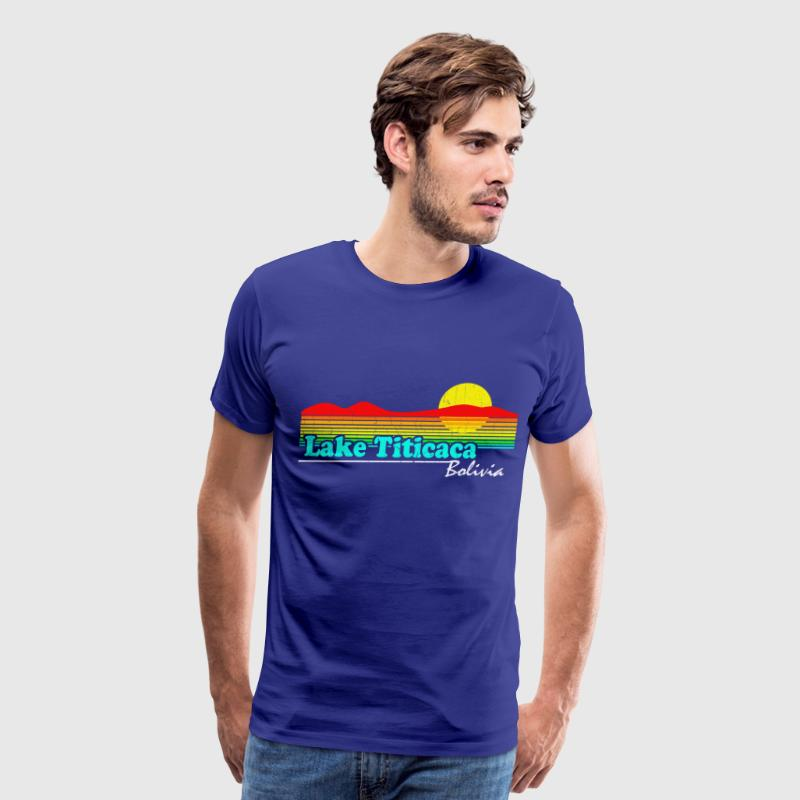 Retro Lake Titicaca, Bolivia - Men's Premium T-Shirt