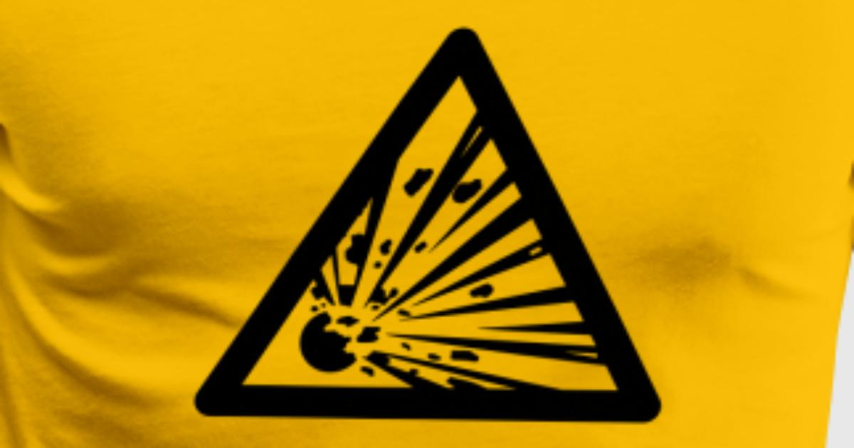 hazard symbol explosives tshirt spreadshirt