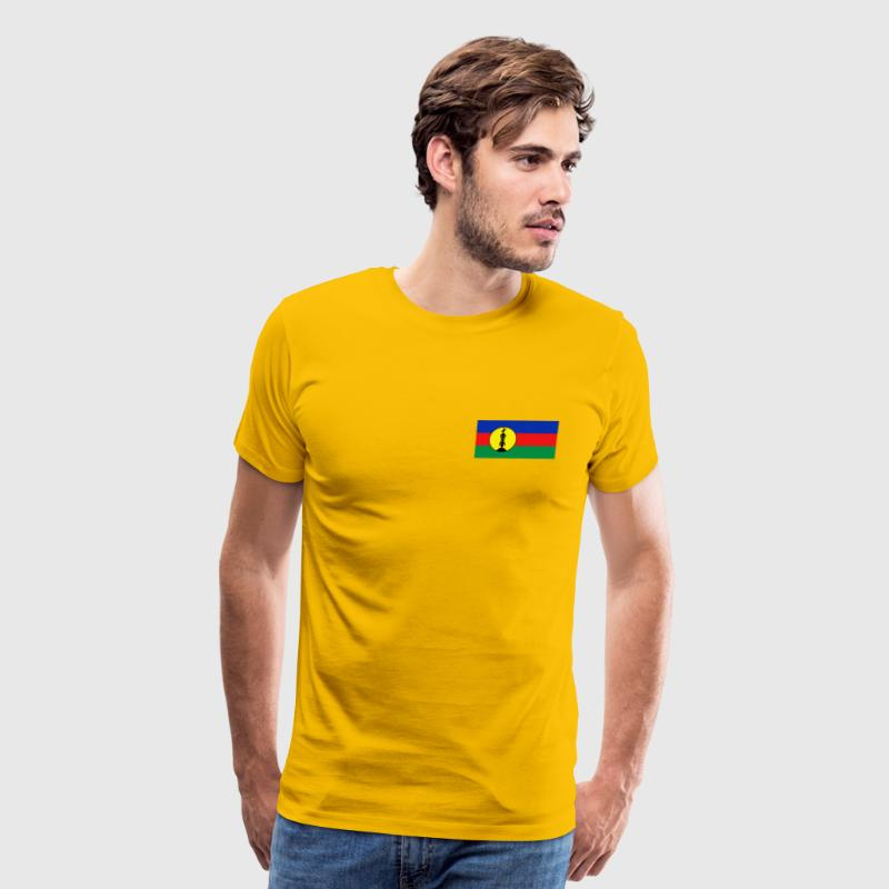 New Caledonia Flag T-Shirt - Men's Premium T-Shirt