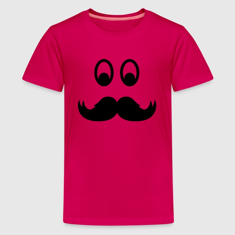 Smiley Mustache Kids' Shirts - Kids' Premium T-Shirt
