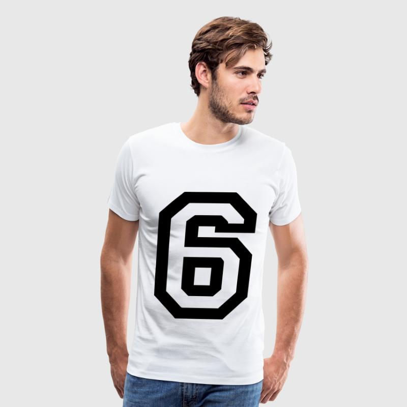 Number 6 - Men's Premium T-Shirt