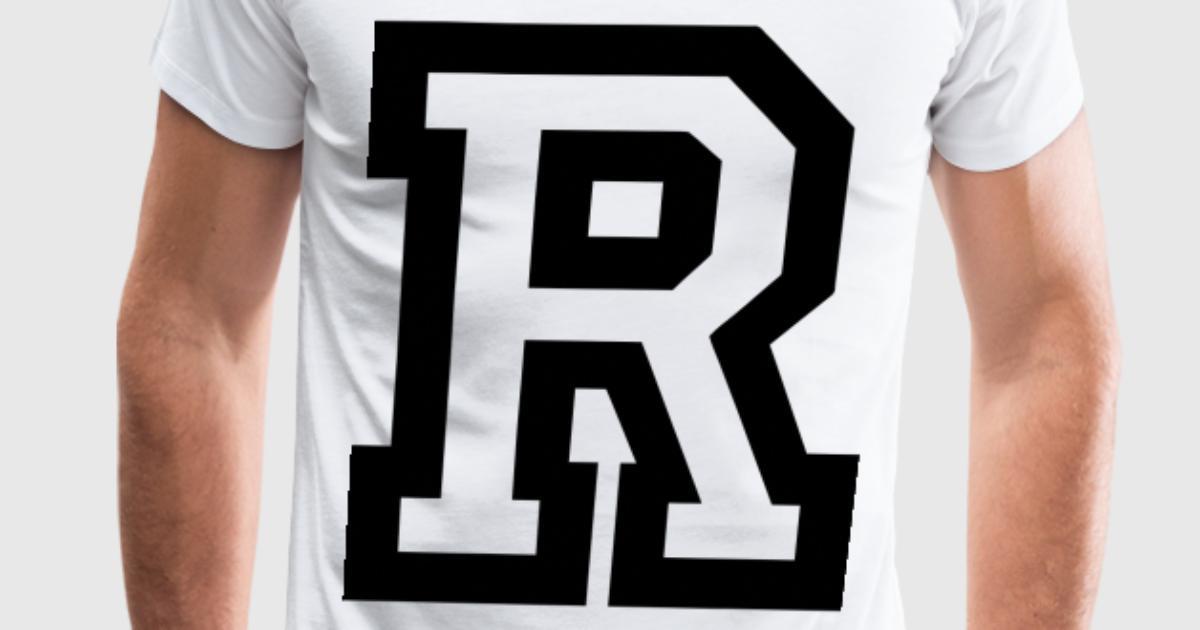 Letter R T Shirt Spreadshirt