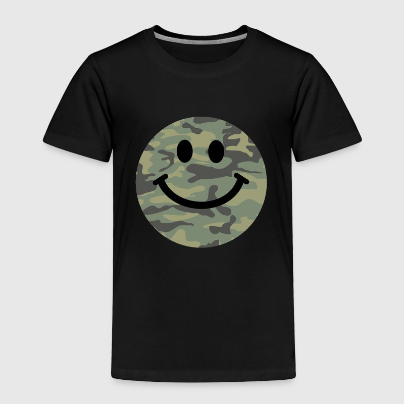 Army green camo Smiley face Baby & Toddler Shirts - Toddler Premium T-Shirt