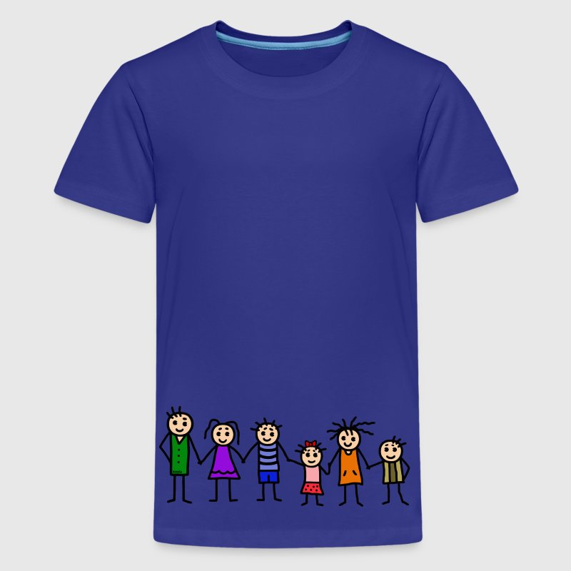 large family - patchwork family - colorful Kids' Shirts - Kids' Premium T-Shirt