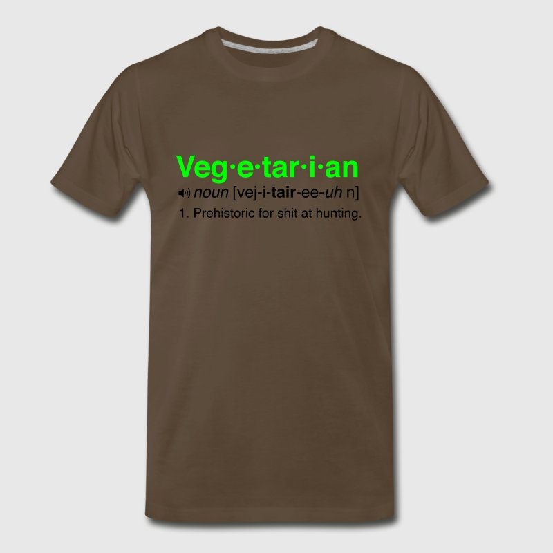 Vegetarian Prehistoric for Shit at Hunting T-Shirts - Men's Premium T-Shirt