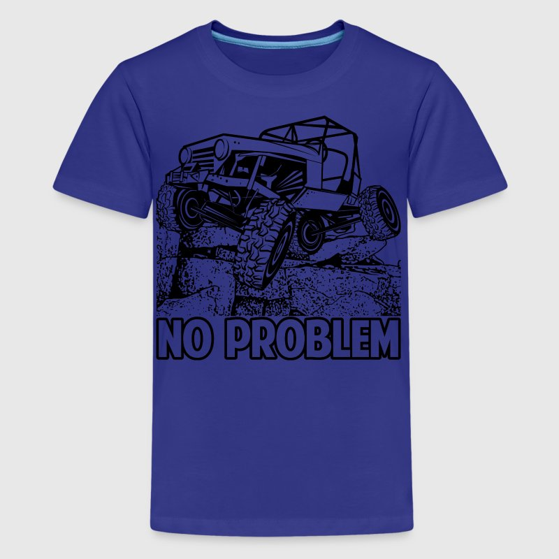 No Problem Rock Crawling Jeep Kids' Shirts - Kids' Premium T-Shirt