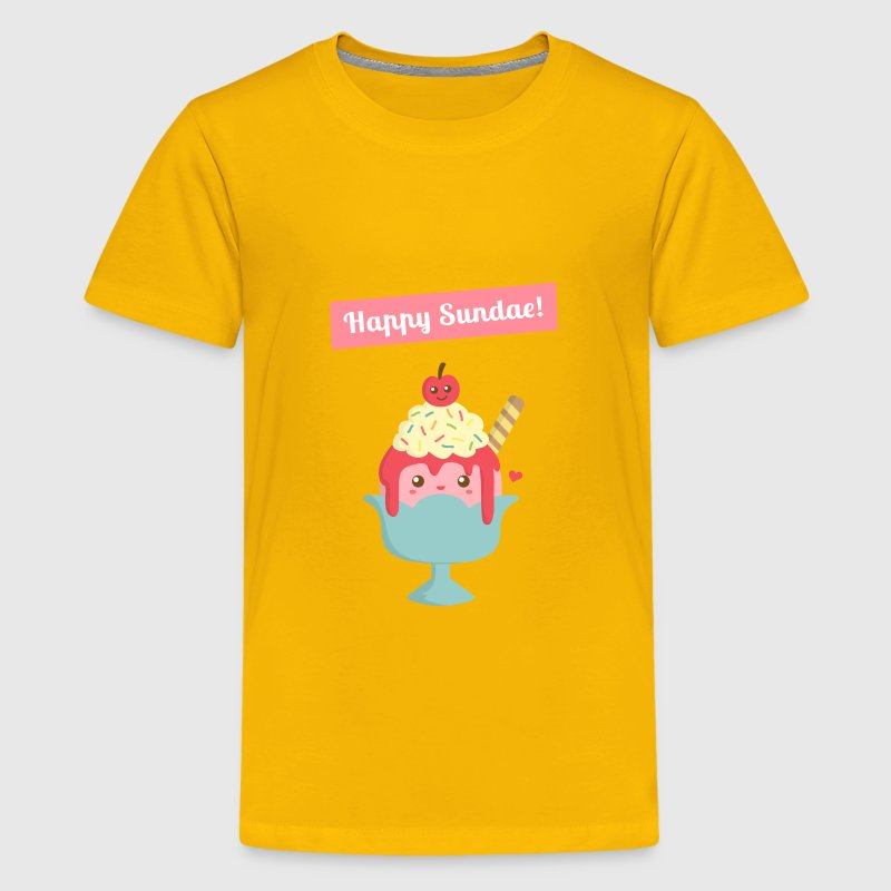Sundae is for Sunday! Cute Cartoon Sundae Kids' Shirts - Kids' Premium T-Shirt