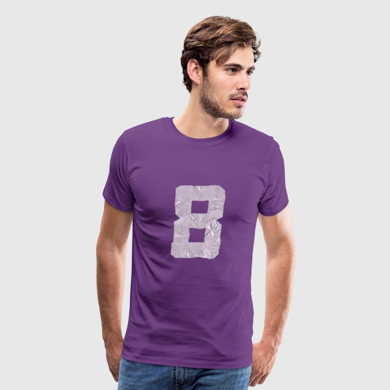 duct tape number 8 b T-Shirts - Men's Premium T-Shirt