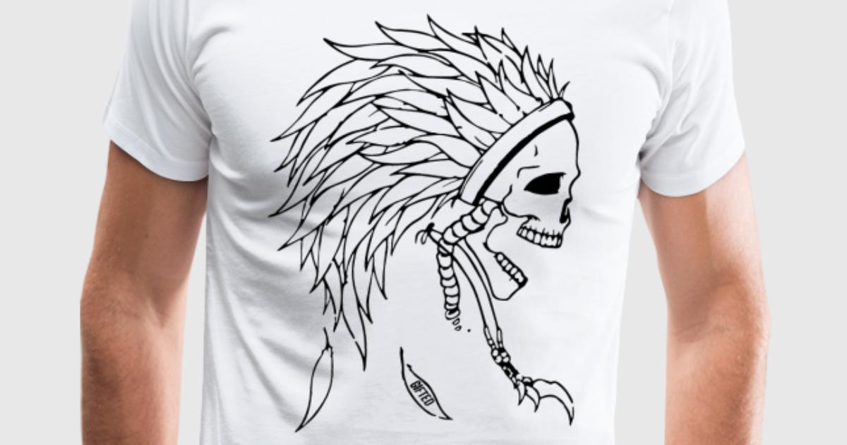 Indian Skull Head T Shirt Spreadshirt
